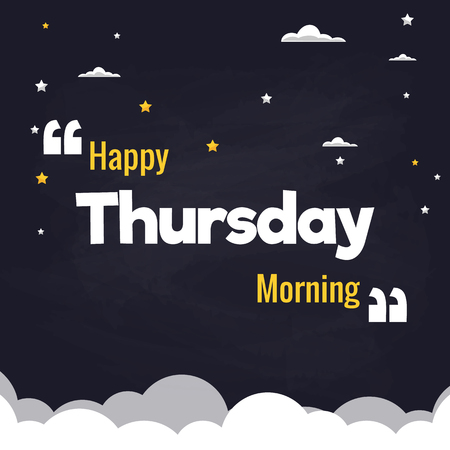 Happy Thursday Morning Flat Illustration Background Vector Design
