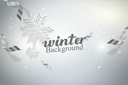 Winter Snowflakes Vector illustration Background Concept Design Vettoriali