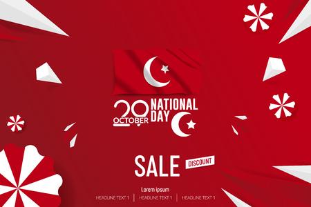 Turkey Independence Day Sale Vector Background Illustration