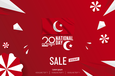 Turkey Independence Day Sale Vector Background Illustration