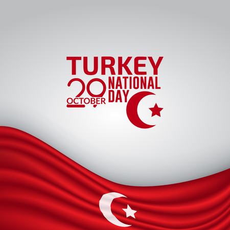 Turkey Independence Day Flag Vector Background Illustration