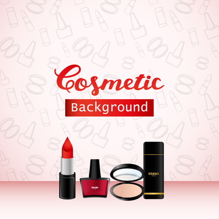 Cosmetic Background, Product Promo Advertising Banner Design Vettoriali