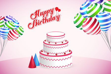Happy Birthday Party Vector Template Design Background