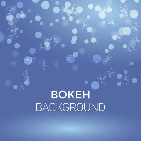 Winter Snowflake Abstract Bokeh Background Vector Illustration Vettoriali