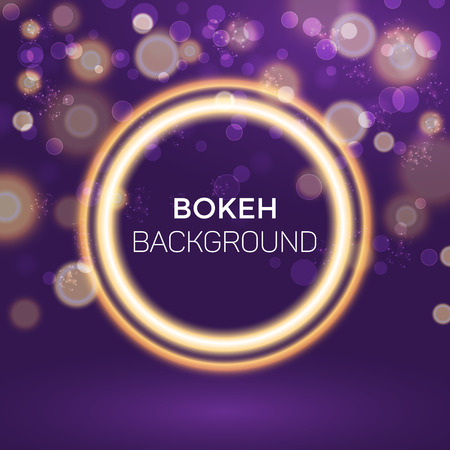 Abstract Golden Ring Bokeh Background Vector Illustration