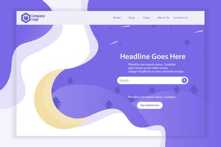 New Website Landing Page Template Design