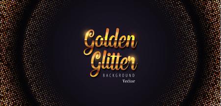 Golden Glitter Abstract Halftone Background Vector Illustration