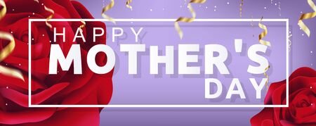 Beautiful Happy Mothers Day Vector Background Illustration