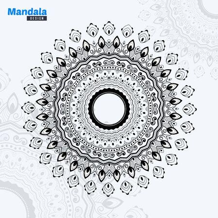 Abstract Mandala Design lineart Vector Illustration Background