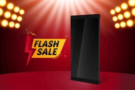 Flash Sale Mobile Illustration Vector Background