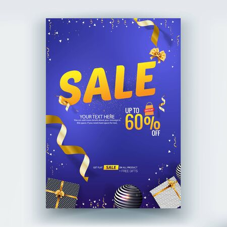Sale Brochure/Flyer/Poster Vector Template Design