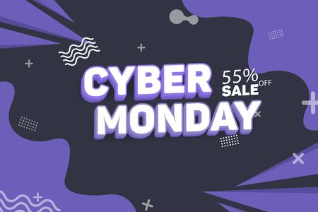 Abstract Cyber Monday Sale Vector Background Illustration