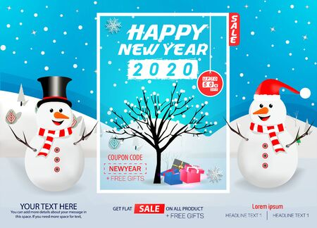 Happy New Year Sale Abstract Vector Background Template Design Archivio Fotografico - 134809172