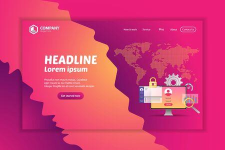 Website Ranking Landing Page Vector Template Design banner Concept