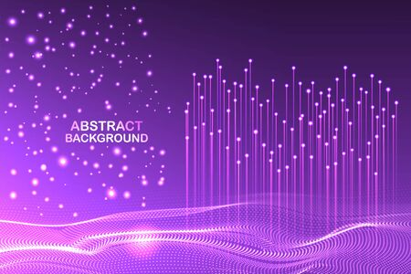 Abstract technology wave background concept