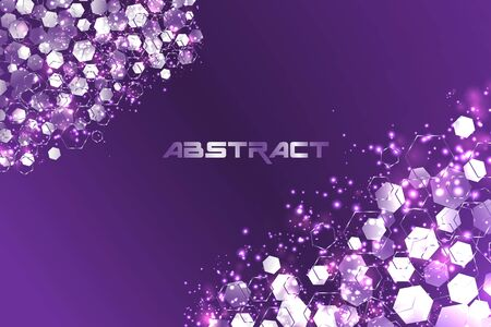 Abstract hexagonal Technology background. concept