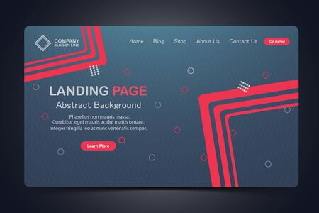 beautiful landing page abstract background Website Vector Template Design