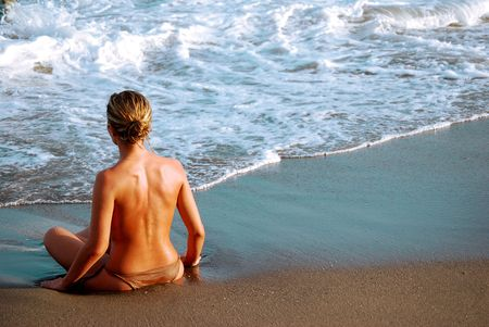 Woman sea and relaxation photo
