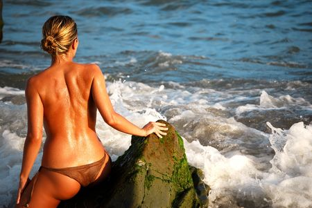 sexy woman in the beach Stock Photo - 4769470