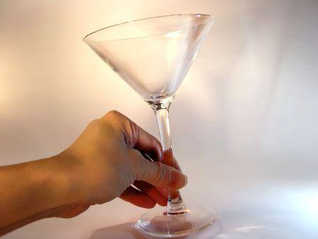 liquidate: martini. Cup Stock Photo