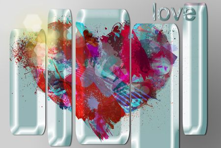 heart colors photo
