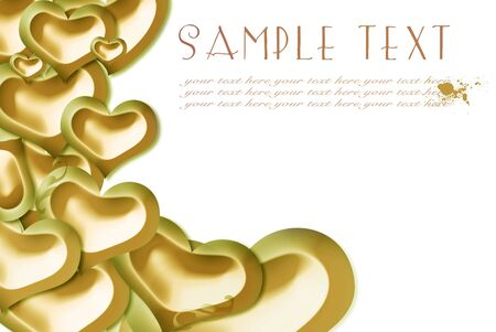 evaporation: card, gold hearts