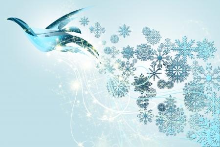 januar: die Taube des Friedens und Weihnachten