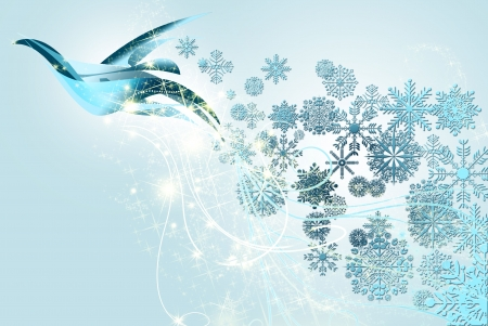 dove of peace and Christmas Stock Photo - 8222144