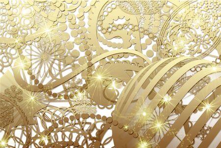 original sparkle: golden christmas collage