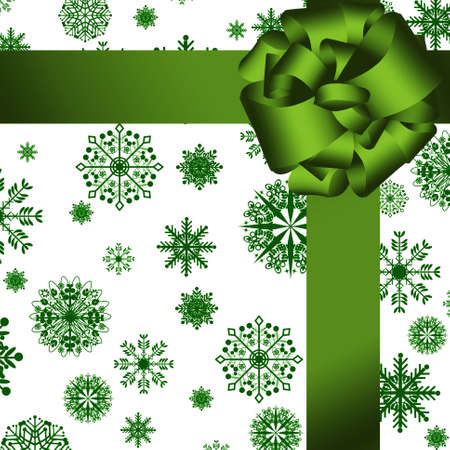 card. green gift wrapped Stock Photo - 8222156