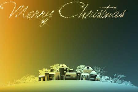 Christmas village. Christmas Eve Stock Photo - 8222161