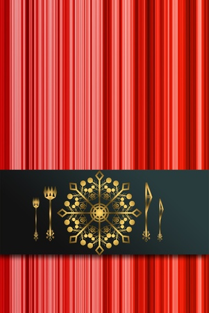 red menu for Christmas dinner photo