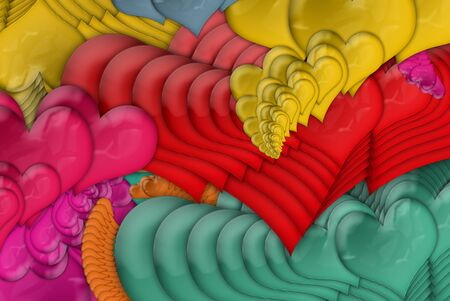 colorful hearts Stock Photo - 8723156