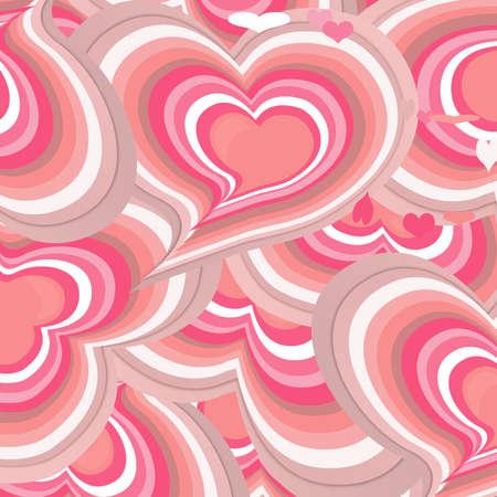 Pink hearts card, photo
