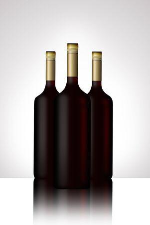 illustrated wine bottle Stock Photo - 10079933