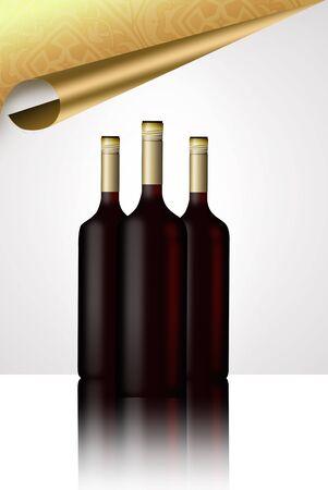 distinguished: illustrated wine bottle.