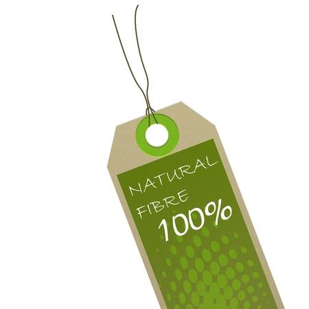 green organic label