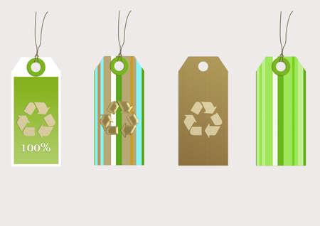Four organic tags. modern designs photo