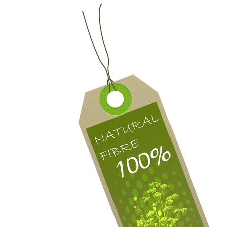 biodegradable material: green organic tag Stock Photo