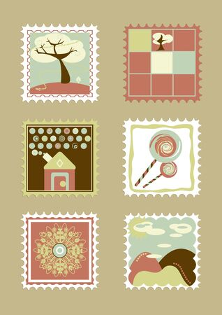 Child stamp collection  Beige