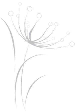 flor: Flor Gris  Ilustracion