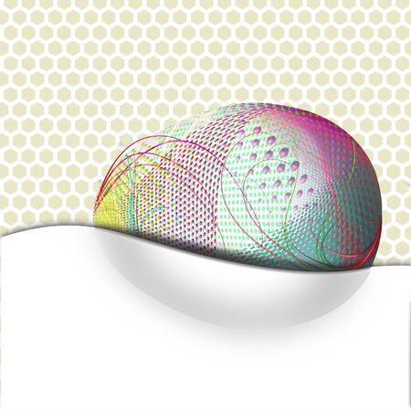 Background image, decorated egg for celebrations, Easter