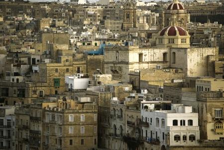 mediterraneo: view of the old town of Sliema, Malta. Mediterraneo