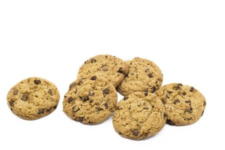 Chocolate Cookies on Isolated background  horizontal image Stock Photo - 21927677