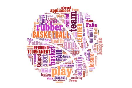 fair play: Basketball word cloud concept. illustration with text