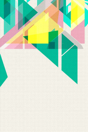 Flat geometric covers design. Colorful modernism. Simple shapes composition forming triangles and diagonals, Concept backgrounds for ads or prints, covers or posters, banners or cards