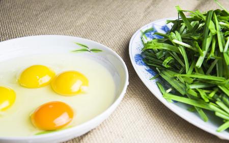 leek: Leek and egg