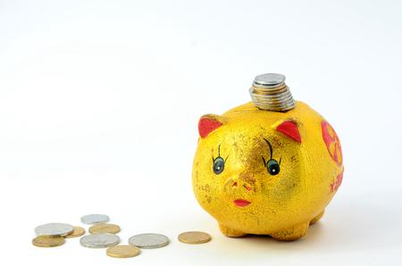 accumulation: The accumulation of saving money Stock Photo