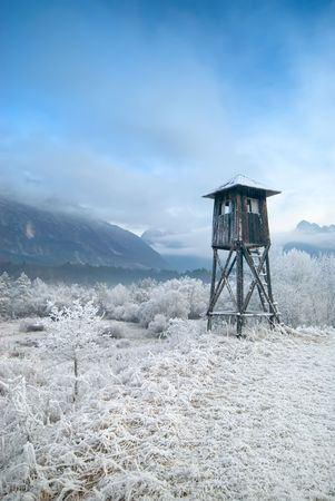 hunters tower: Hunters tower on cold winter morning.