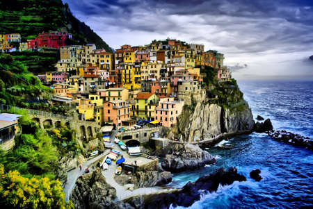 liguria: an hdr picture of Manarola in Liguria